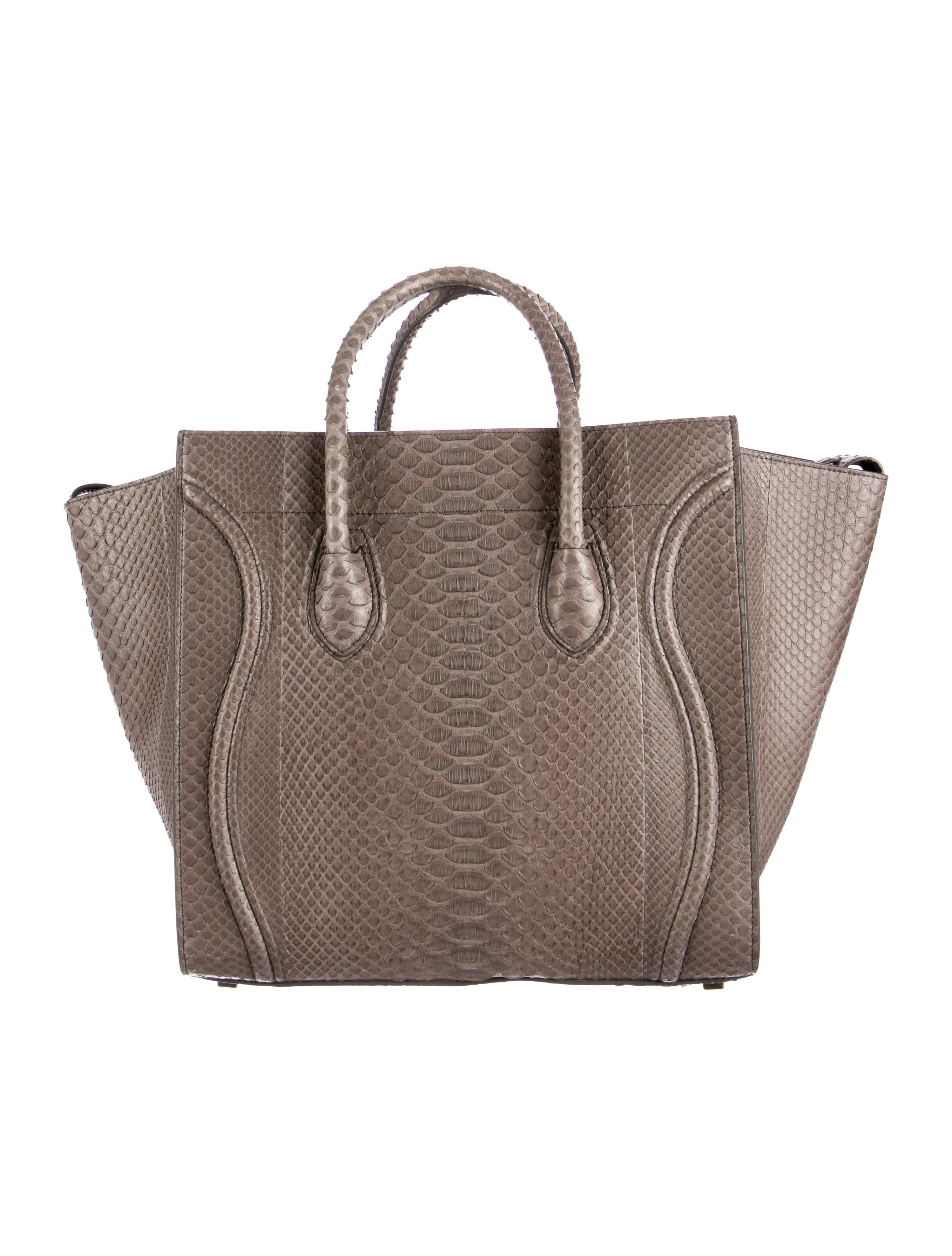celine classic box bag black - celine medium python phantom tote, celine luggage bag replica