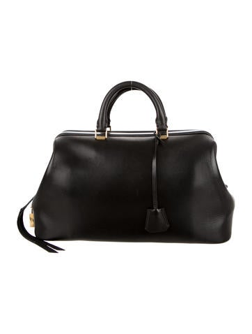 celine luggage tote black and white