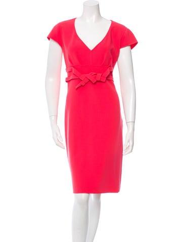 Céline Wool Short Sleeve Dress