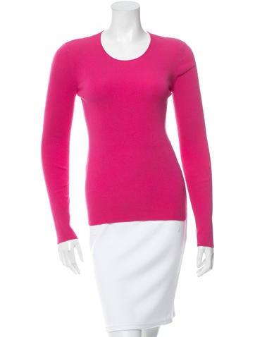 Céline Rib Knit Long Sleeve Top None