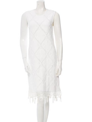 Chanel Patterned Knit Dress w/ Tags None