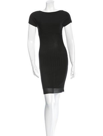 Chanel Rib Knit Bodycon Dress None
