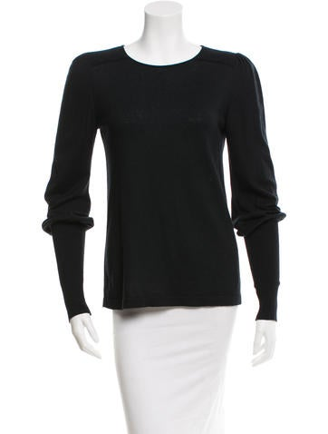 Chanel Cashmere & Silk-Blend Sweater None