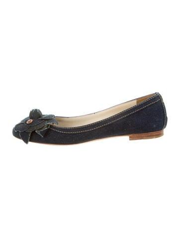 Chanel Denim Round-Toe Flats