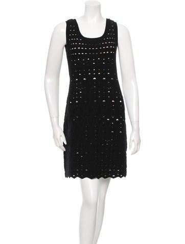 Chanel Open Knit Mini Dress None