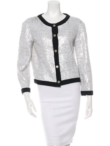 Chanel Embellished Cashmere Cardigan None