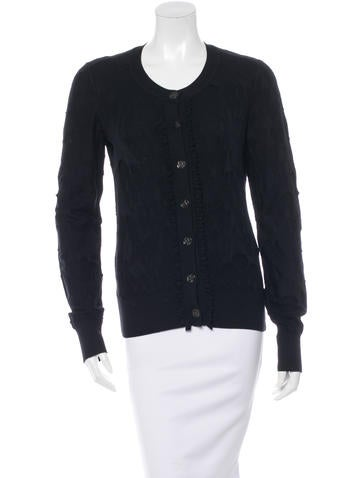 Chanel Wool Button-Up Cardigan None
