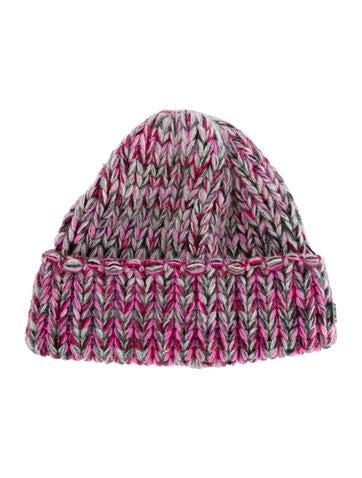 Chanel Cashmere Rib-Knit Beanie