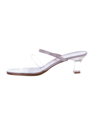 Chanel PVC Lucite Sandals