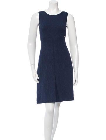 Chanel Matelassé Knit Dress None