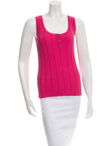 Chanel Ribbed Sleeveless Top w/ Tags None