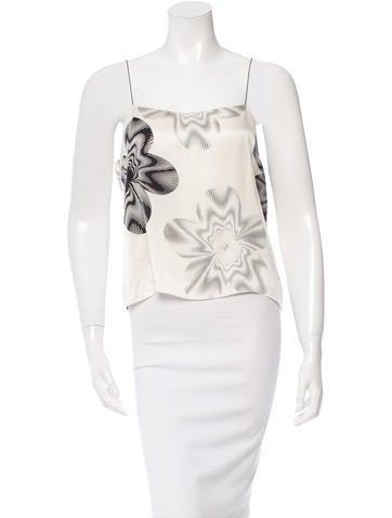 Chanel Silk Floral Print Top None