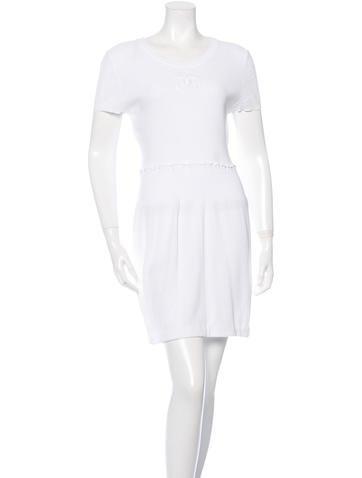 Chanel Rib Knit Mini Dress None