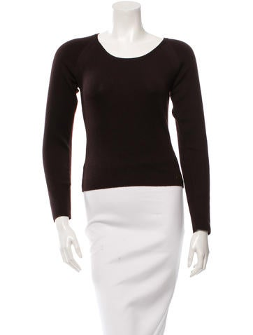 Chanel Cashmere Long Sleeve Top None