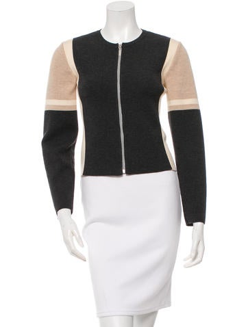 Chanel Wool Colorblock Cardigan None