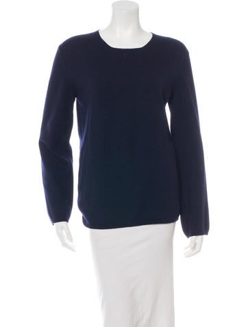 Chanel Wool & Cashmere-Blend Long Sleeve Sweater None