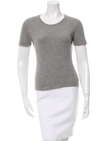 Chanel Cashmere Short Sleeve Top None