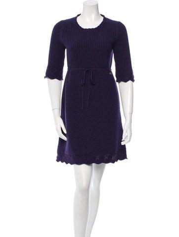 Chanel Cashmere Sweater Drress None