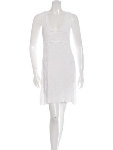 Chanel Open Knit Sleeveless Dress None