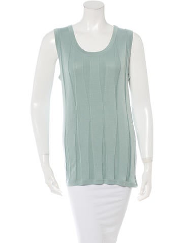 Chanel Sleeveless Rib Knit Top w/ Tags None