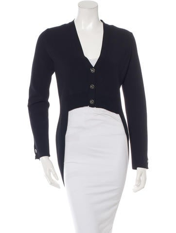 Chanel High-Low Cardigan None