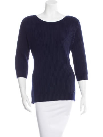 Chanel Rib Knit Cashmere Sweater w/ Tags None