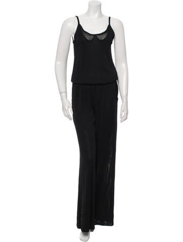 Chanel Sleeveless Wide-Leg Jumpsuit w/ Tags None