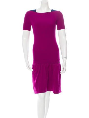 Chanel Wool Drop-Waist Dress None