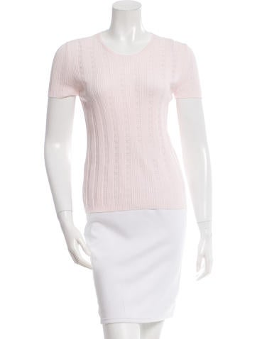Chanel Perforated Rib Knit Top w/ Tags None