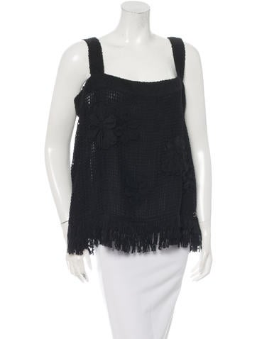 Chanel Spring 2015 Crochet Sleeveless Top w/ Tags None