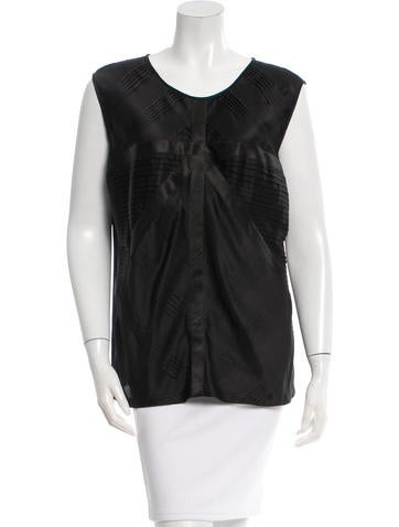 Chanel Silk Gathered Top None