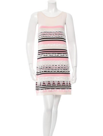 Chanel Striped Cashmere Dress None