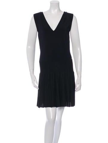 Chanel Sleeveless Knit Dress None