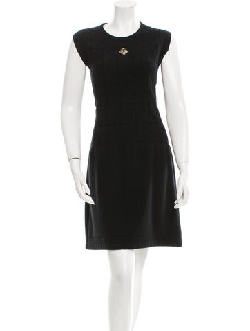 Chanel Wool Camellia Dress None