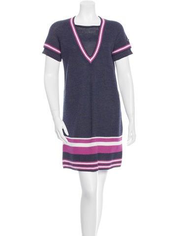 Chanel Knit Short Sleeve Dress None
