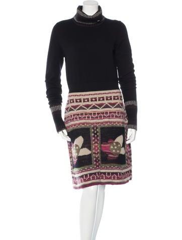 Chanel Paris-Moscou Wool Intarsia Dress None