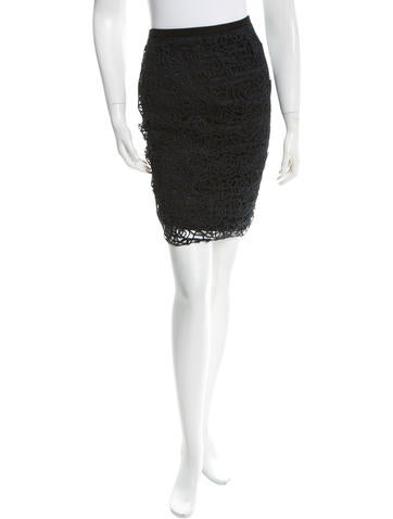 Chanel Woven Pencil Skirt None