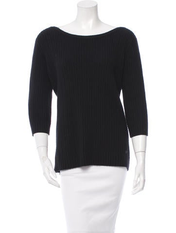 Chanel Cashmere Knot-Accented Sweater None