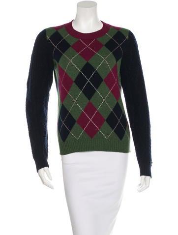 Chanel Cashmere Argyle Sweater None
