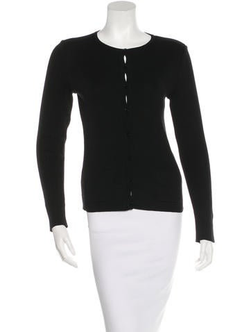 Chanel Rib Knit Button-Up Cardigan None