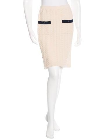 Chanel Knit Knee-Length Skirt None