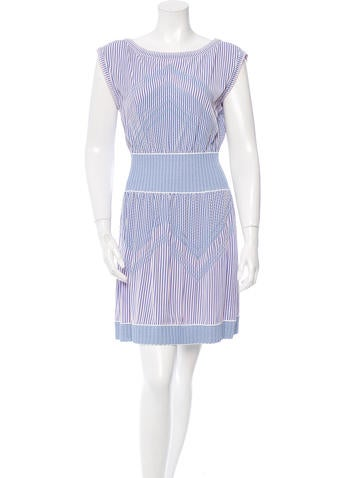 Chanel Knit Striped Dress w/ Tags None