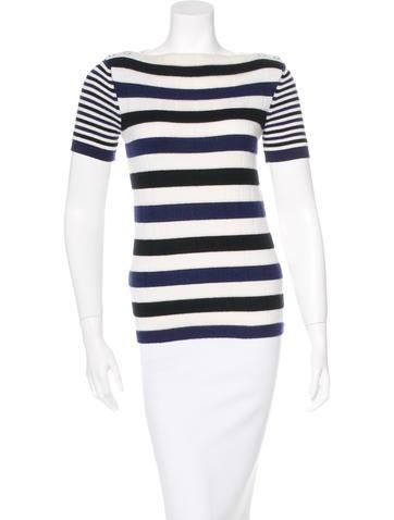 Chanel Cashmere Striped Sweater None