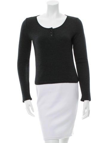 Chanel Cashmere & Silk-Blend Top None