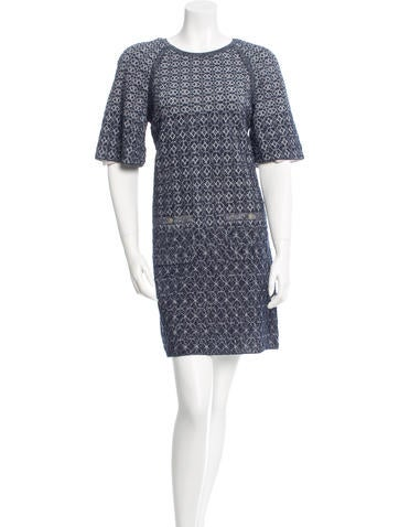 Chanel Jacquard Silk-Blend Dress None