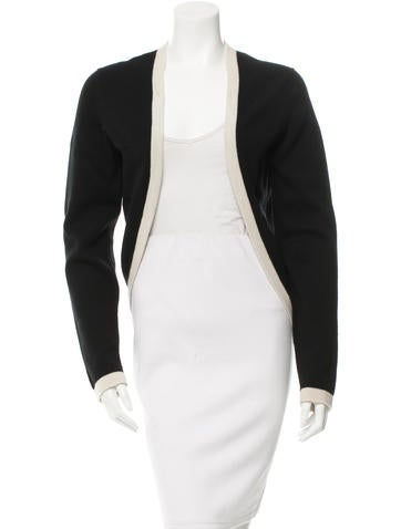 Chanel Cashmere Open-Front Cardigan None