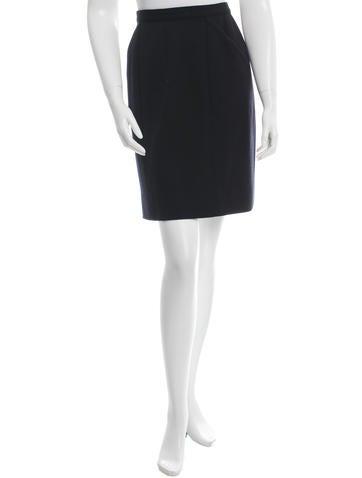 Chanel Wool Mini Skirt None