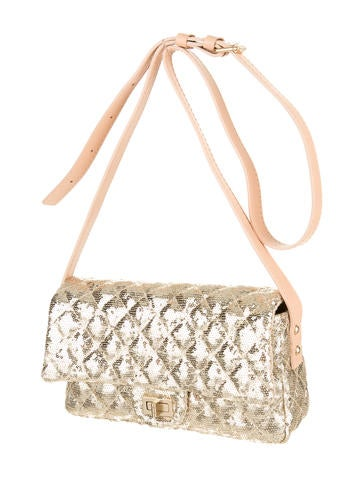 Sequin Flap Bag