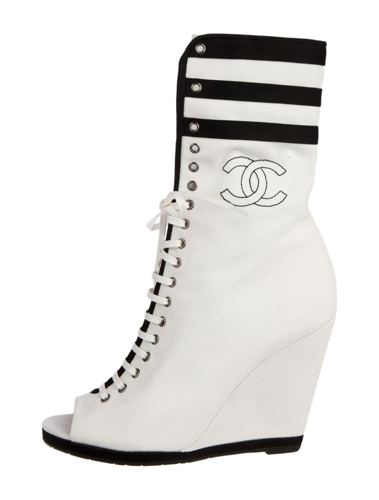 chanel wedge sneakers shoes cha30891 the realreal