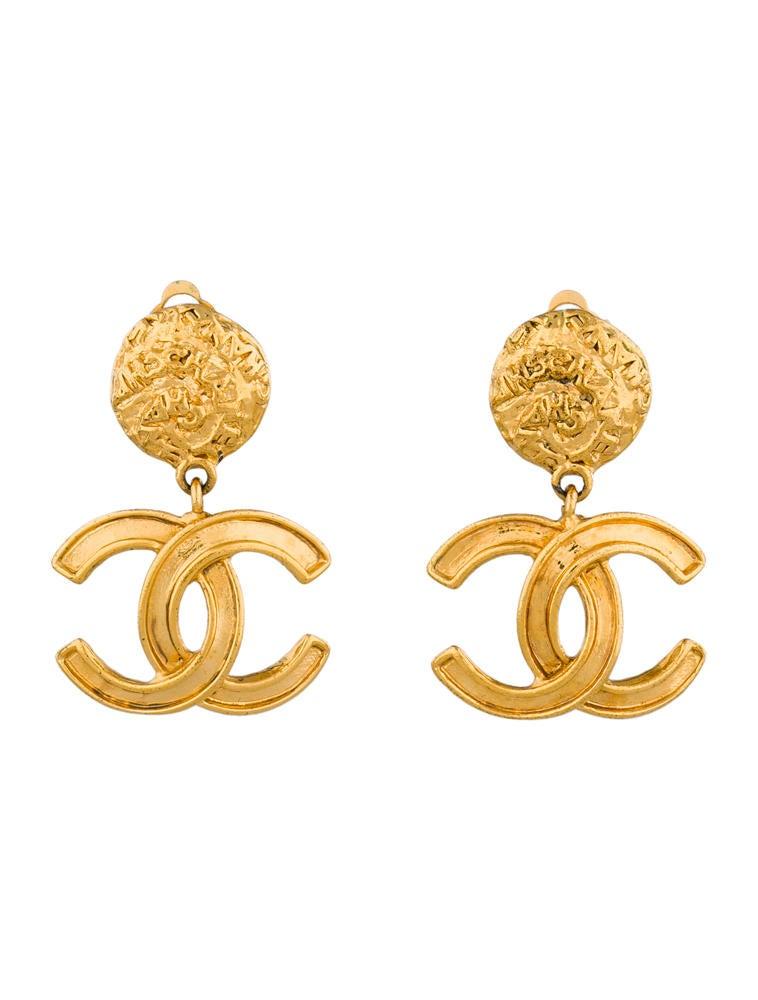chanel cc drop earrings earrings cha44453 the realreal